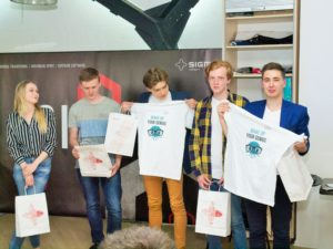 students with t-shirts